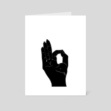 Gyan Mudra - Art Card by Jill Archibold