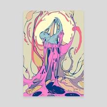 Stuck - Canvas by Delia Mihai