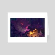 Charmander vs Gengar - Art Card by igor carteret