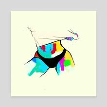 Voyeur 2 - Canvas by Dylan Coverdale