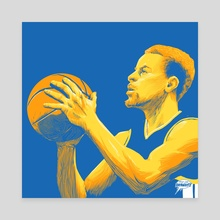 Steph Curry 1 - Canvas by Rich Lee