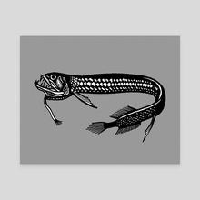 Black dragonfish - Canvas by Máté Molnár