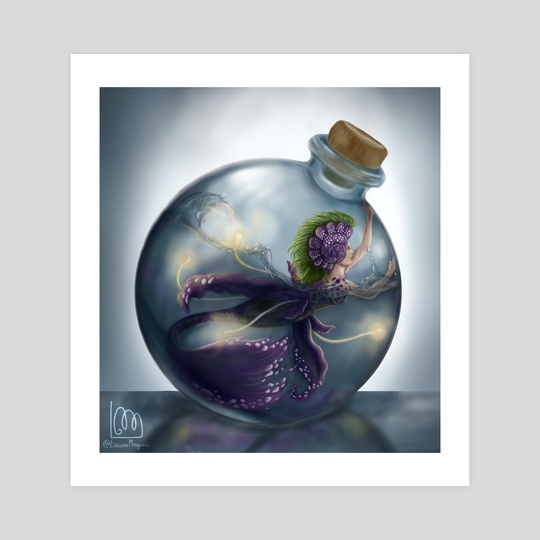 Mermaid in a bottle by Laura Megara