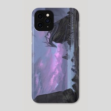 Sunset of a sea serpent - Phone Case by Timi Honkanen