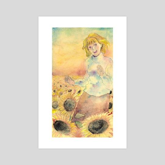 Arcueid Sunflower by Agha  Abiyasa