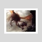 "Preyseizer Dragon - Art Print by Mike ""Daarken"" Lim"