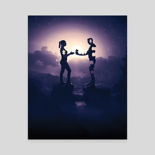 Giving all of me to you - night - Canvas by Anthony Edward