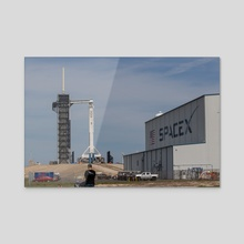 SpaceX Crew Demo 1 - On the Pad 1 - Acrylic by Jon Galed