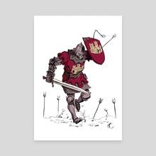 Castilian Knight/ Caballero Castellano - Canvas by Ricardo Escobar