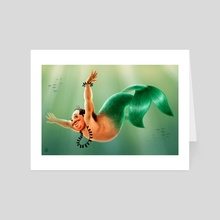 Merman - Art Card by Stathis Petropoulos