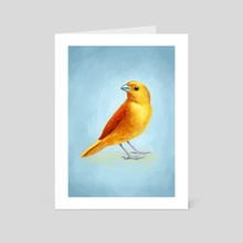 Wild Canary - Art Card by Indré Bankauskaité