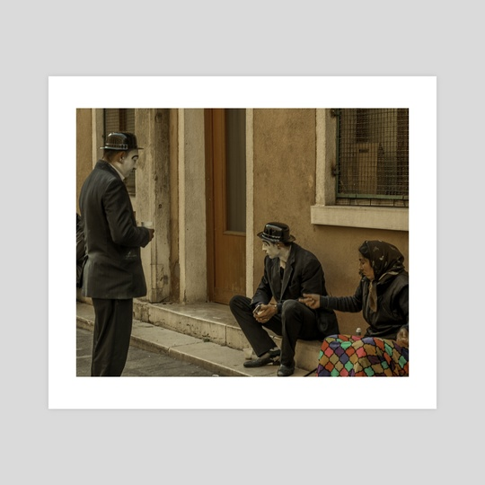 Mimes on a Break by Charlie Collins