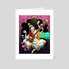 Hindu Goddess - Art Card by Matt Chapman