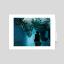 The aquarium - Art Card by Ali Nour