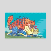 Tetsucabra - The Demon Frog - Canvas by Harris Fagotto