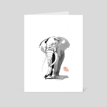 elephant 02 - Art Card by philippe imbert