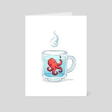 Octopus Tea - Art Card by Indré Bankauskaité