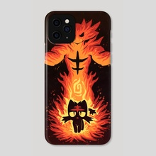 The Flame Cat Within - Phone Case by Sarah Richford