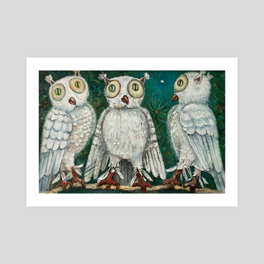 three owls by Kristian Leov
