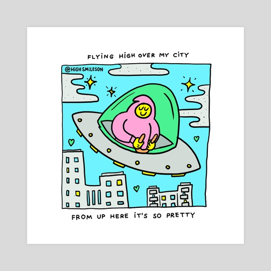 Flying High Over My City by High Smileson
