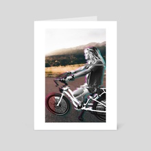 Glitching the ride - Art Card by Alexandre Ibáñez