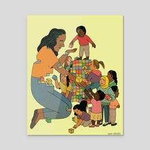 Teachers - Acrylic by Dani Crosby