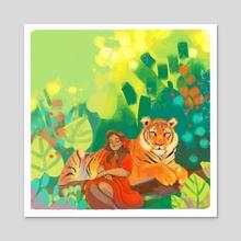 Jungle Repose - Acrylic by Suzi Spooner