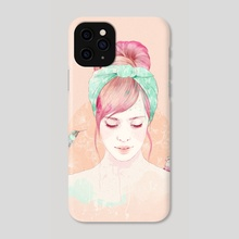 Pink Hair Lady - Phone Case by Ariana Pérez
