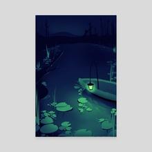 Lantern Lake - Canvas by Hannah Magee