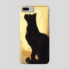 Black Cat - Phone Case by Allison Gloe