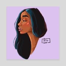 Portrait black woman - Canvas by Lotus