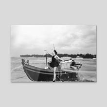Ballet_9 - Acrylic by Duc Dang