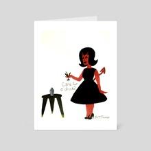 Miss Satan - Art Card by Tabitha St. James