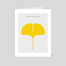 Ginkgo Leaf - Art Card by Christopher Dina