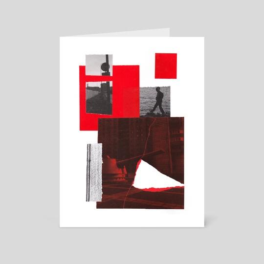 Red Walker Collage by Djovee