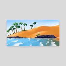Lagoinha Beach - Canvas by Marcela Werkema