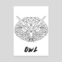 Geometric Owl - Canvas by Alessio Mollo