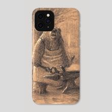 Bearworld - Blacksmith - Phone Case by Jim Gallo