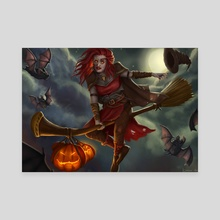 Halloween Witch - Canvas by Gislaine Avila