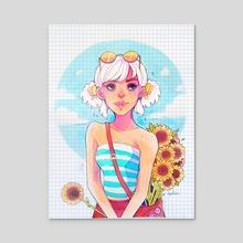 Sunflowers - Acrylic by Isabella Isla