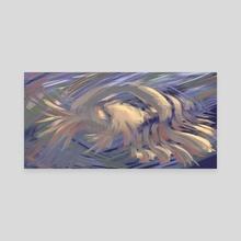 Elasmosaurus Feeding #1 - Canvas by Christopher Srnka
