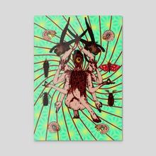 Cicada Meditation - Acrylic by Byan Seiga
