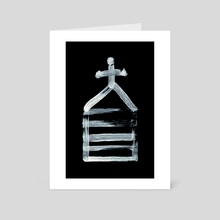 Alchemical Symbols - Salt Three Inverted - Art Card by Wetdryvac WDV