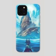 The Legend of Zelda: The Wind Waker - Dragon Roost Island - Phone Case by Genel Jumalon