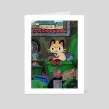 City Meowth - Art Card by Arina Korczynski