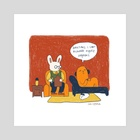 Therapy bunny - Art Print by Cam Estela