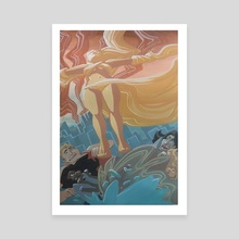 Lady of Light  - Canvas by Margaret Blair-Kraybill