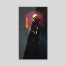 Skull - Acrylic by Pavel Sokov