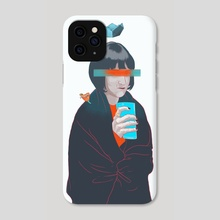 blue cold milk, your winter highness - Phone Case by Ferran Sirvent