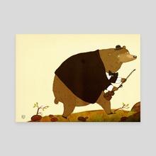 Violin Bear - Canvas by Kai Schuettler